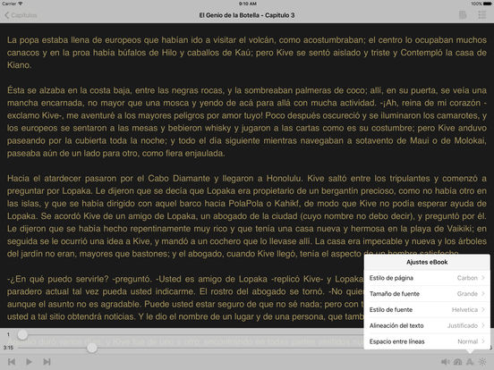 El Genio de la Botella - AudioEbook iPad Screenshot 2