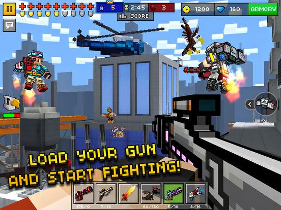 Screenshots of Pixel Gun 3D for iPad