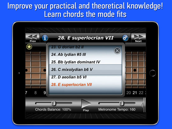 Guitar Modes Symmetry School iPad Screenshot 2
