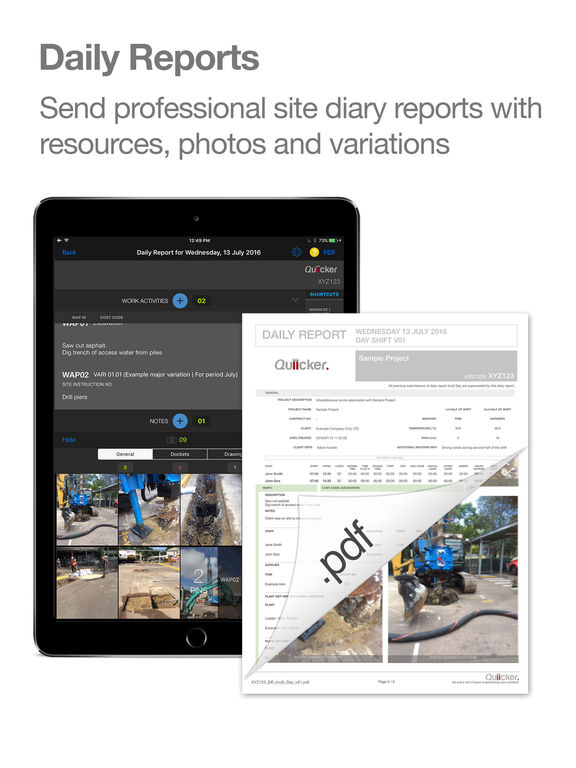 Quiicker construction project management tool on the app for Application ipad construction maison