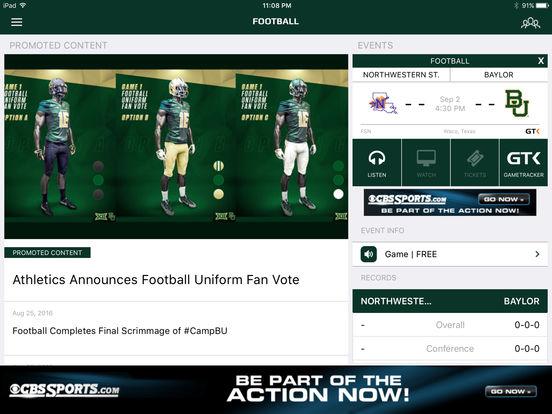 Baylor Bears iPad Screenshot 3