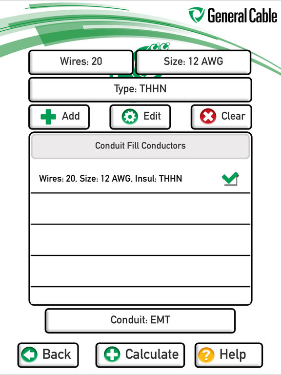 General Cable Conduit Fill Calculator on the App Store – Conduit Fill Chart