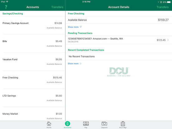 DCU Mobile PC Branch iPad Screenshot 1