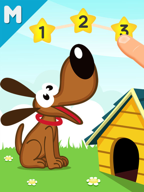 123 Baby Zoo Animal Counting Connect the Dots Game