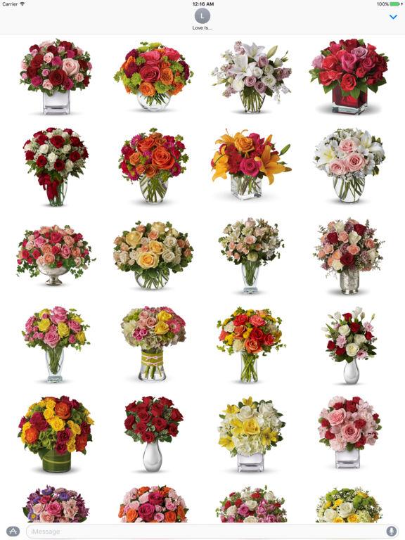 App shopper bouquets of multi colored rose flowers for Pictures of multi colored roses