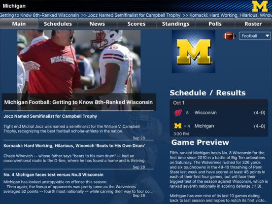 Michigan Wolverines College SuperFans iPad Screenshot 2