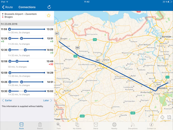 Train Info Services by SNCB Mobility iPad Screenshot 2