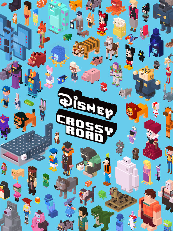 Screenshots of Disney Crossy Road for iPad