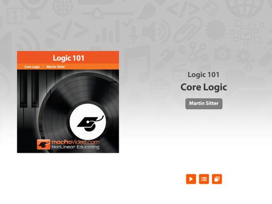 MPV's Logic Pro 101 Tutorial iPad Screenshot 1