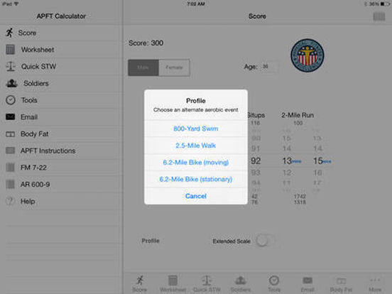 App Shopper: Army Fitness APFT Calculator full PRO (Finance)