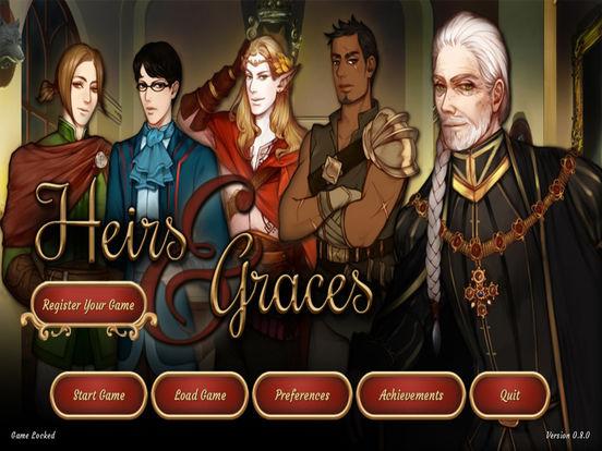 Heirs and Graces Visual Novel на iPad