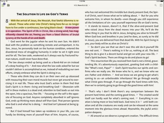 The Message Bible for BibleReader iPad Screenshot 1