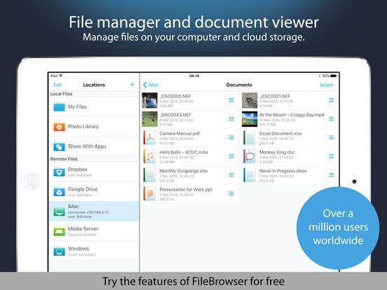 NetPortalLite - Access files on remote computers iPad Screenshot 1