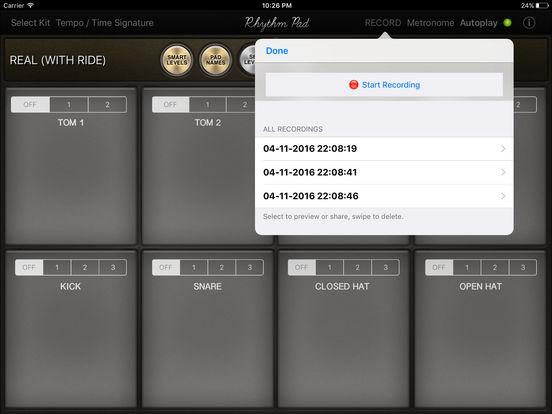 Rhythm Pad – Play Drums, Record and Make Beats Screenshots