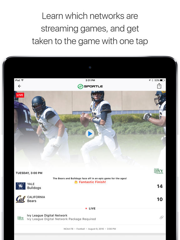 Sportle・Live Sports Streams & Scores screenshot