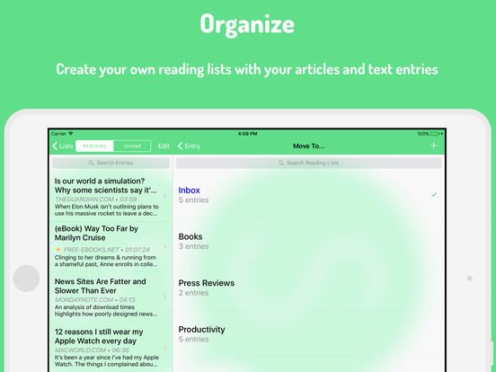 Speaky - Hands-free Audio Player for Web Articles Screenshots