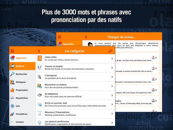 Apprendre l'Anglais Business avec MosaLingua Screenshots