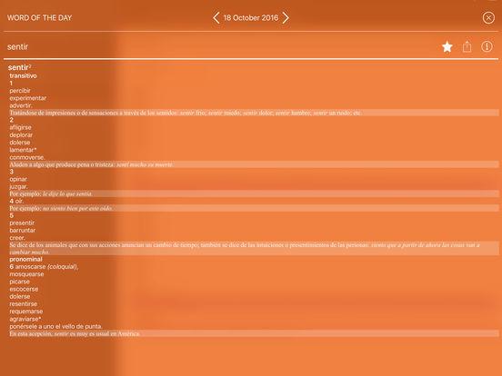 VOX Compact Spanish Dictionary and Thesaurus iPad Screenshot 2