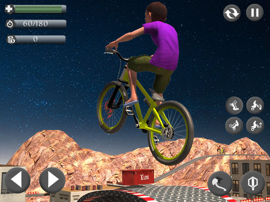 Rooftop Baby Bicycle Stunts screenshot 6