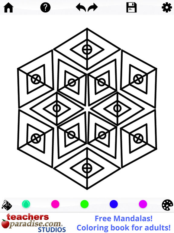 Coloring Pages For Adults App : App shopper mandalas adult coloring book games