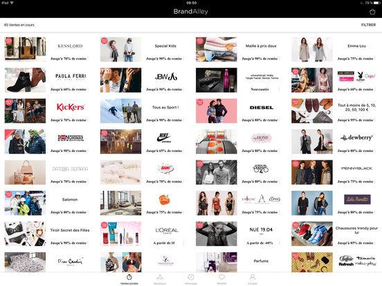 BrandAlley iPad Screenshot 1
