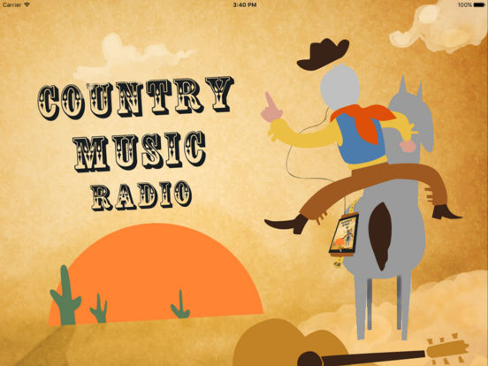 Country Music Radio iPad Screenshot 1