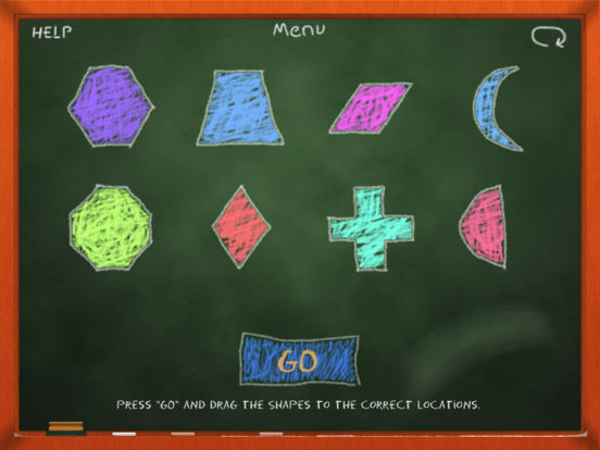 Chalk School: Shapes - Learn & Recognize Screenshot