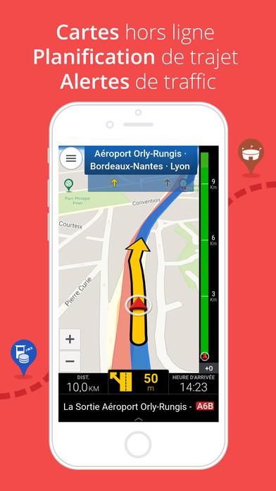 Screenshot CoPilot Europe Occidentale - Navigateur GPS