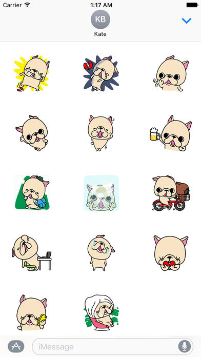 how to rotate iphone video bulldog on s day sticker por nguyen hao 8277