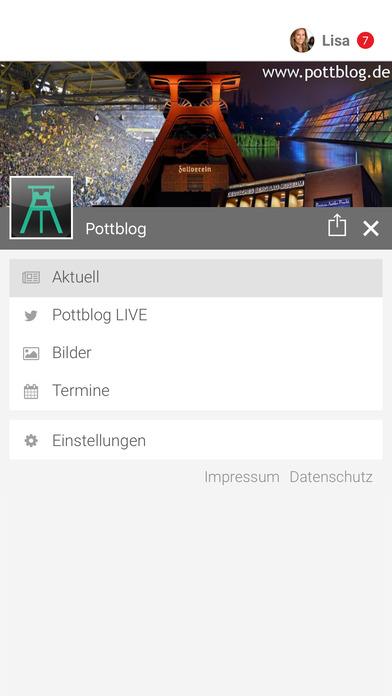 Pottblog Screenshot