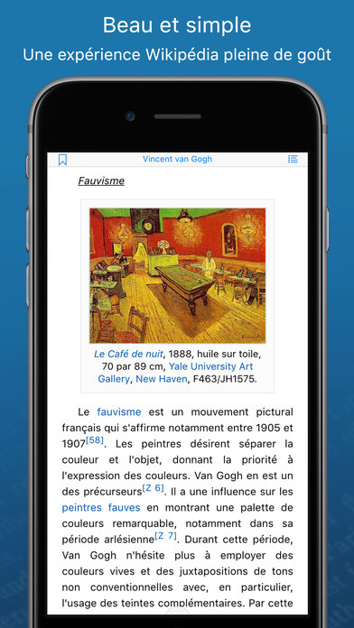Screenshot WikiLinks ‐ Lecteur Wikipédia intelligent