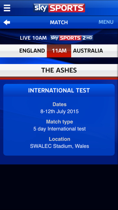 screen for iphone sky sports live cricket score centre by bskyb 5937