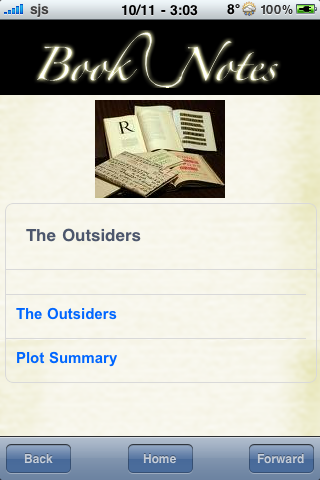 Book Notes - The Outsiders screenshot #3