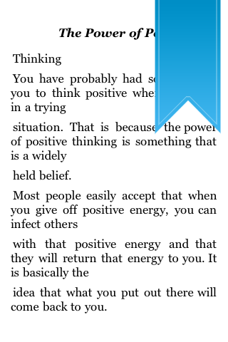 The Power of Positive Thinking screenshot #2
