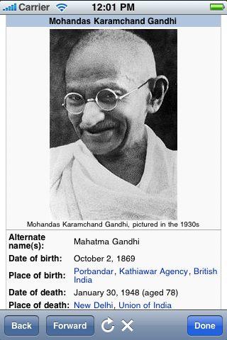 Mohandas Gandhi Quotes screenshot #2