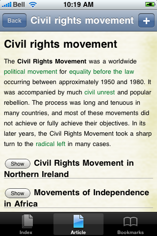 The Civil Rights Movement Study Guide screenshot #1