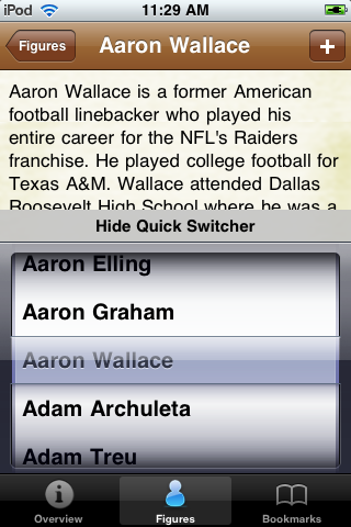 All Time Oakland Football Roster screenshot #3
