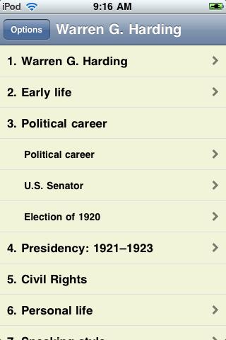 Warren G. Harding - Just the Facts screenshot #1
