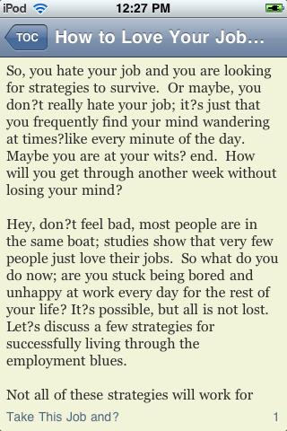 How to Love Your Job screenshot #1