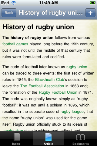 History of Rugby Union Study Guide screenshot #1