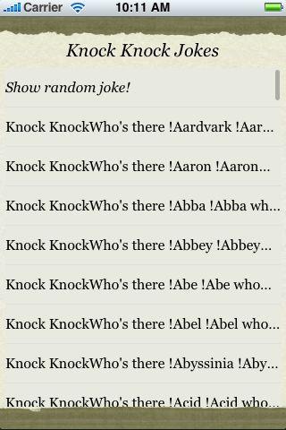 Knock Knock Jokes screenshot #3