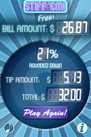 STIFF 'EM! Free - The Tip Calculating Game! screenshot #2