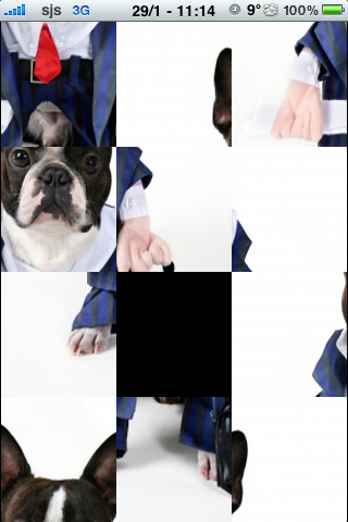 Business Man Dog Slide Puzzle screenshot #2