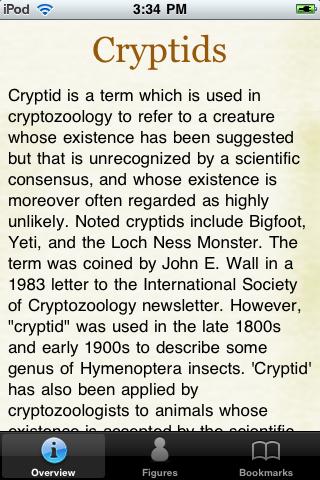 Cryptids Pocket Books screenshot #1