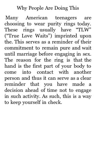 Purity Rings and Abstinence Pledges screenshot #1