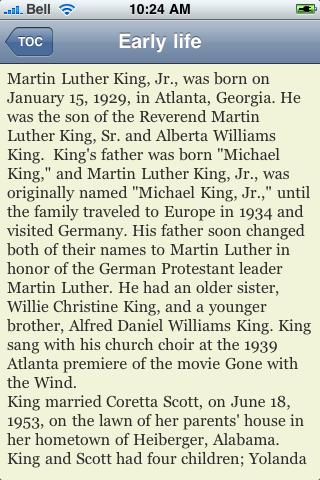 Dr. Martin Luther King Jr screenshot #3