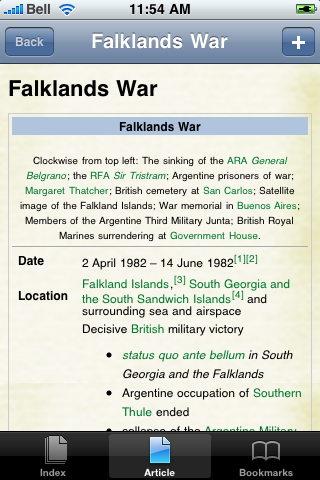 Falklands War Study Guide screenshot #1