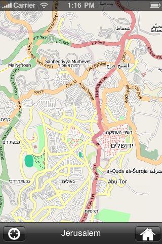 iMapsPro - Jerusalem screenshot #2
