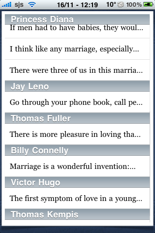 Dating Quotes screenshot #2