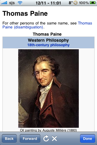 Thomas Paine Quotes screenshot #1